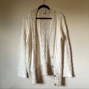 FREE PEOPLE LONG SWEATER CARDIGAN WITH BUTTONS